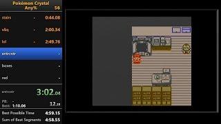 Pokémon Crystal any% speedrun in 5:04 (RTA)