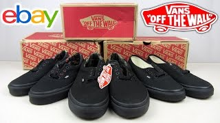 Посылка с eBay | Vans Authentic Black & Vans Era 59 Black