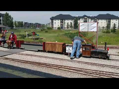 Fun At Iron Horse Park - 1/8 Scale Model Railroad! Airdrie AB