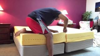 How to Cut a Memory Foam or Tempurpedic Bed in Half
