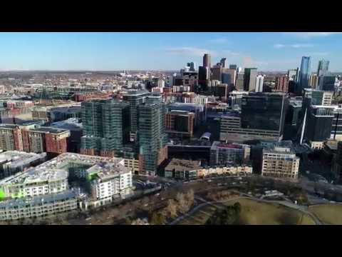 Downtown Denver Aerial Panorama - 4k UHD
