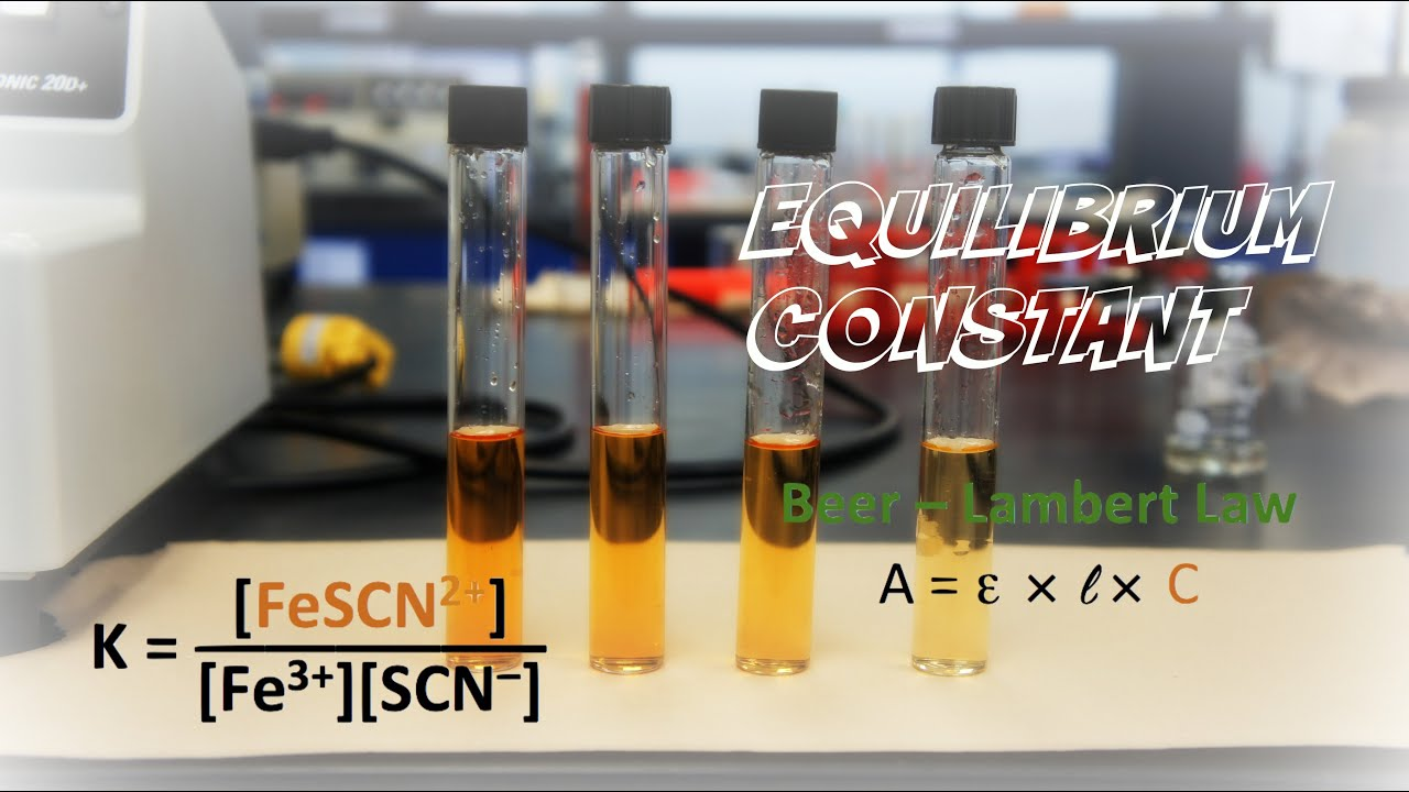equilibrium lab You will investigate the effects upon this equilibrium of the addition of several compounds which will have the effect of increasing or decreasing one of the component ions of the equilibrium mixture.