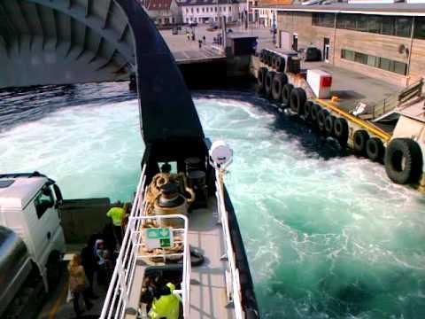 Stavanger harbour entry. Ferry mooring.