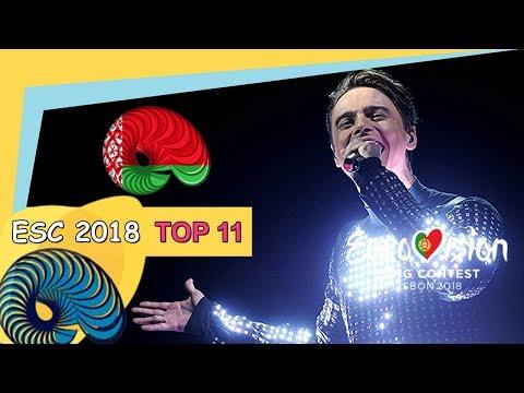 Eurovision 2018 - My Top 11 So Far [New: BELARUS]