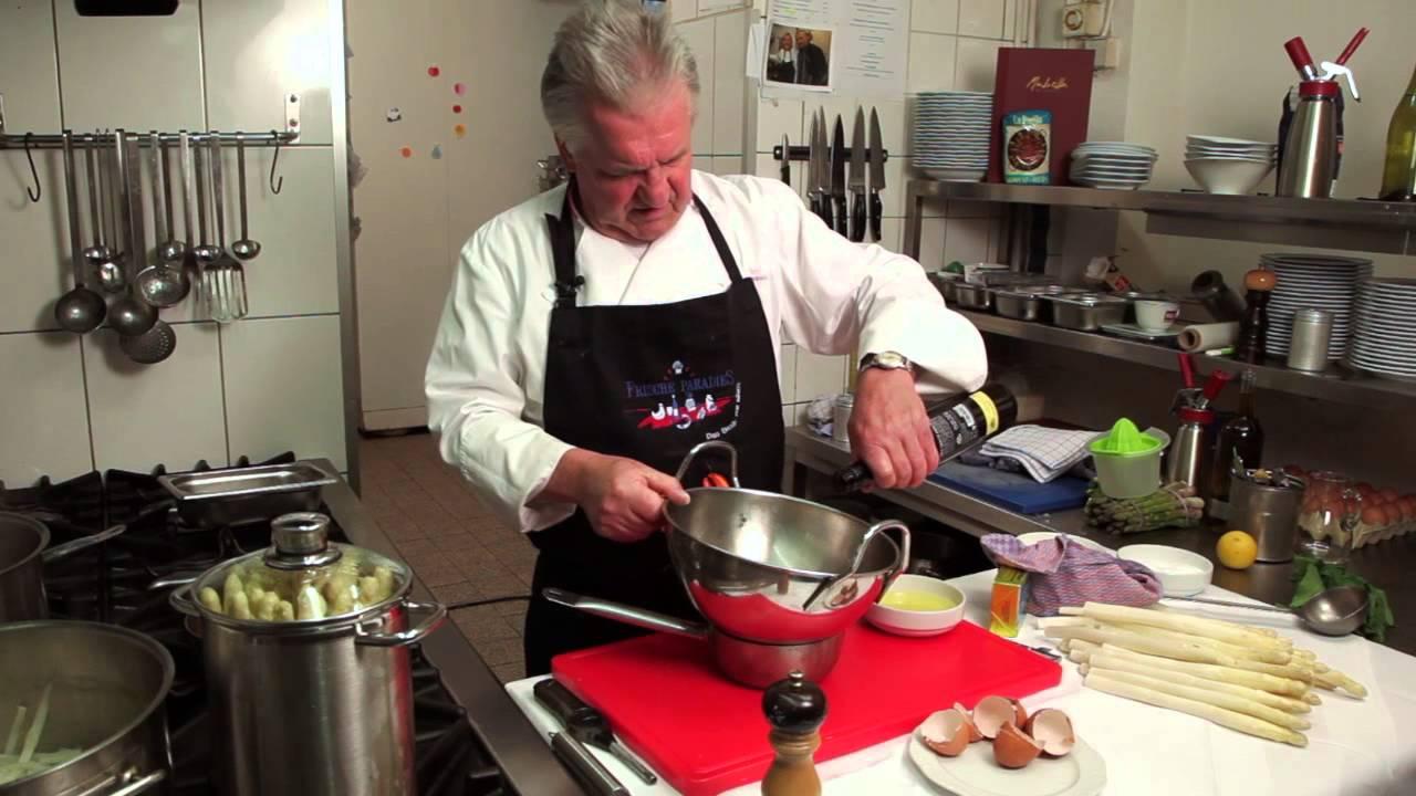 Kochschule So Kocht Man Spargel Mit Sauce Hollandaise Youtube