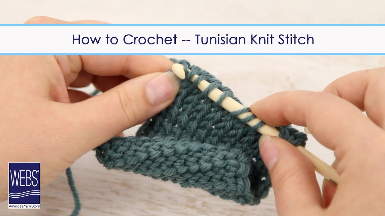 How to Crochet - Tunisian Knit Stitch - YouTube