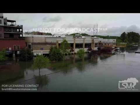 4-30-2017-Branson, Mo flooding, James River, The Landing, Table Rock Dam, 4k drone footage