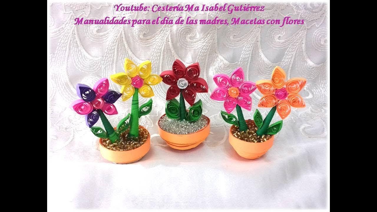 Manualidades para el d a de las madres macetas con flores for Macetas para exteriores decoracion