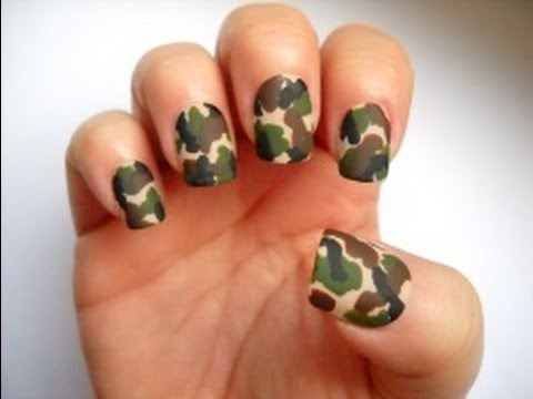 Camo Nails - You Cant See Me! - Camo Nails - YouTube