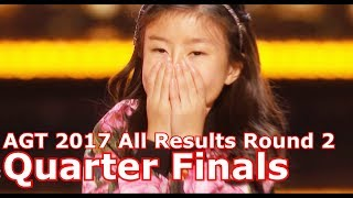 Results Quarter Finals All Results / Summary America's Got Talent 2017 Round 2
