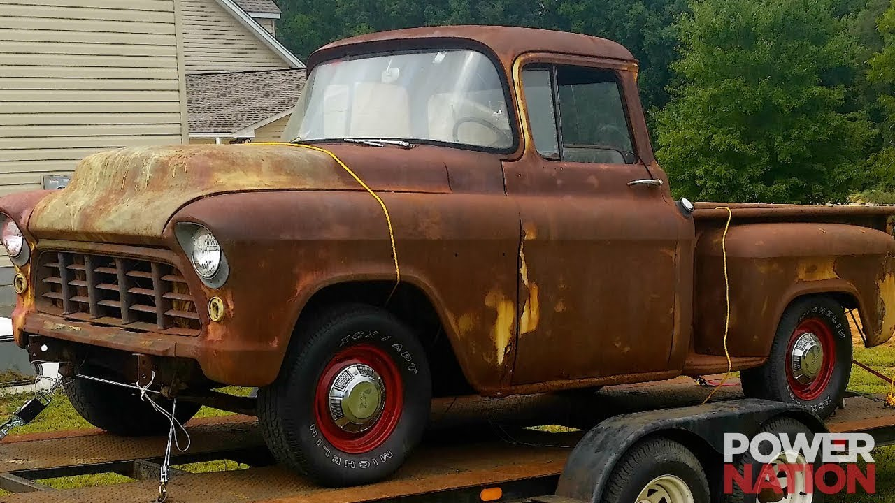 a 55 chevy pickup and tahoe chassis swap you want to see  [ 1280 x 720 Pixel ]