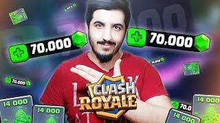 1750 TL Değerinde 70.000 Yeşil Taş Satın ALDIM! Clash Royale
