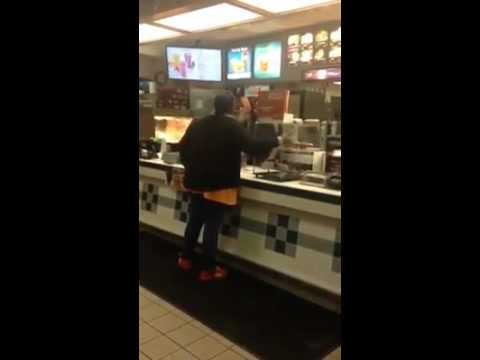 Black lady going off on cashier in McDonalds