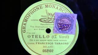 Francesco Tamagno - Othello - Ora e per sempre addio sante memorie - 3. Februar 1903