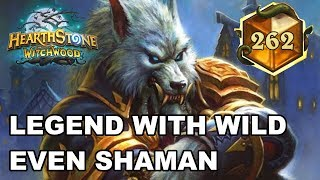 Hearthstone Legend Rank with Wild Even Shaman [Legend Card Back Game]
