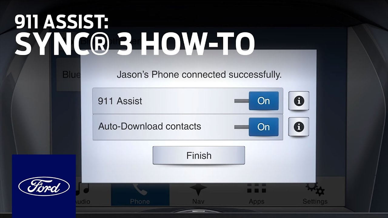 Sync 3 911 Assist Sync 3 How To Ford Youtube