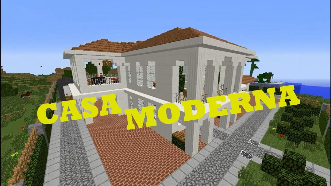 Tutorial como hacer una casa moderna en minecraft bien for Como hacer una casa clasica de ladrillo en minecraft