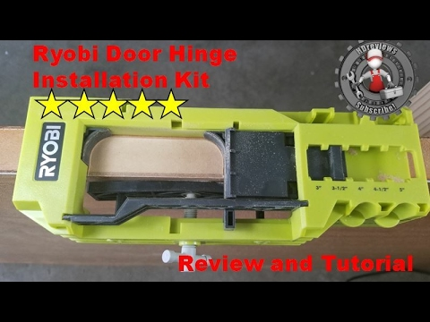 Ryobi door hinge install kit review and tutorial