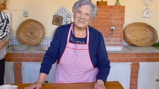 Pasta Grannies meet 100 year old Letizia - our oldest Pasta Granny yet!