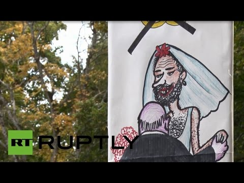 Estonia: Watch anti-gay marriage protesters rally in Tallinn