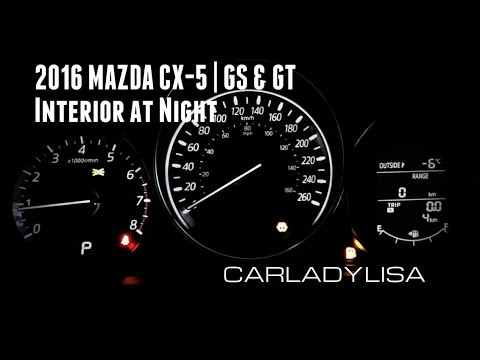 MAZDA CX GS GT Interior At Night YouTube - Mazda cx 5 dashboard lights