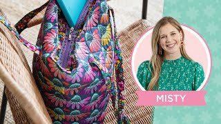 Learn how to mąke an Easy Quilted Zipper Tote with Misty Doan!