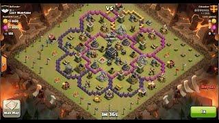 Clash of Clans TH9 vs TH9 [Premature] Dragon (No Spells) Clan War 3 Star Attack