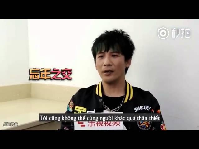 [vietsub] Trương Đại Vỹ nói về Dịch Dương Thiên Tỉ - Phỏng vấn Run For Time ss2 cut