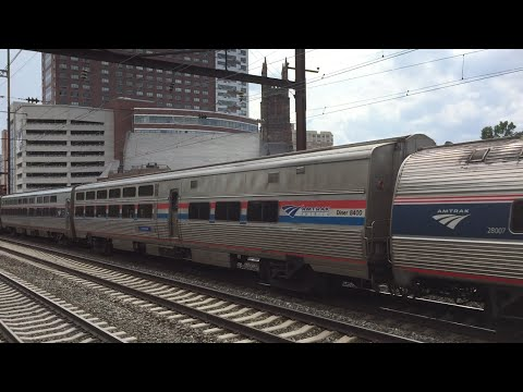 Amtrak HD 60 FPS: Phase III Viewliner Diner 8400 (Indianapolis) @ New Brunswick on Silver Meteor 97