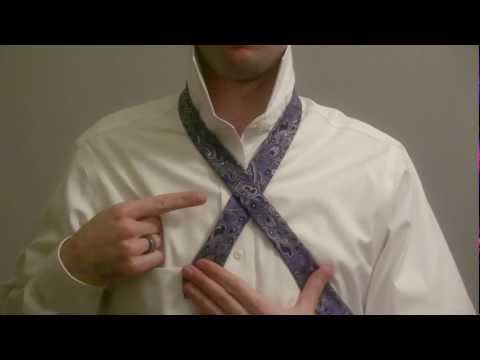 How to tie a windsor knot left handed