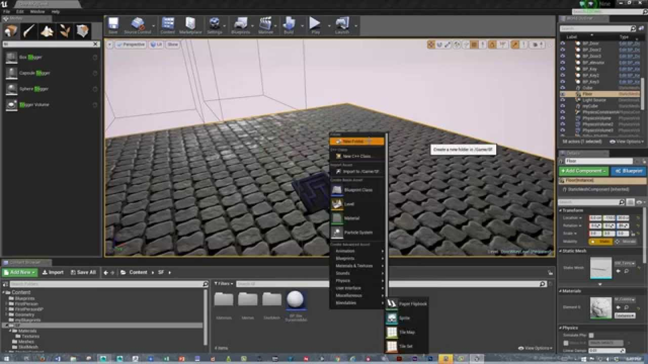 Unreal 4 UMG Basic Text To Screen & 2D Image