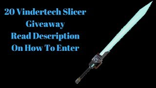 Fortnite 💣Giveaway 20 Vindertech Slicer Fully Perk 106 read description Below 💣 Save The World