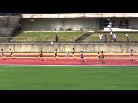 高知学芸中学 陸上部 女子4x100mリレー 四国大会優勝 20130804