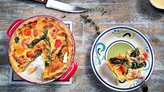Пасхальное меню. Рецепт: Рецепт: Пирог с томатами и ветчиной - ТОРЧИН®