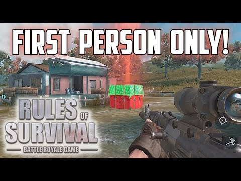 FIRST PERSON CHALLENGE! - Attempt One - Rules of Survival: Battle Royale