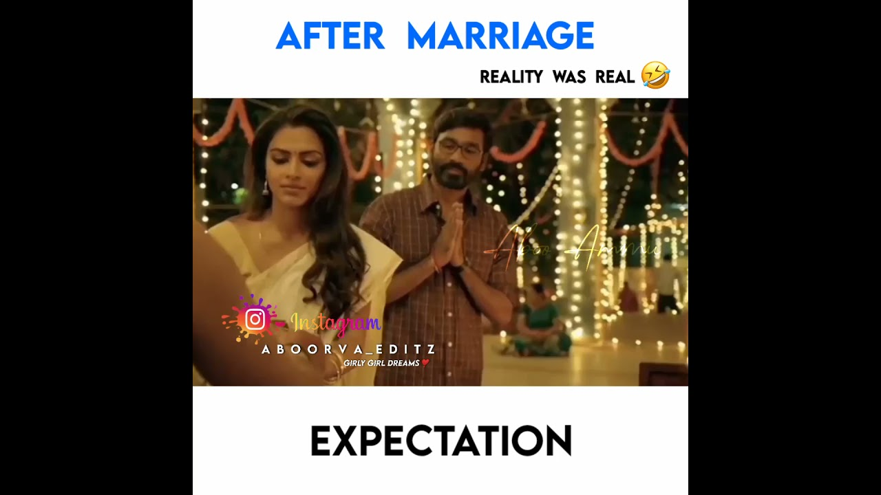 Download Marriage Expectations vs Reality 😂 | Girls WhatsApp status | Aboorva Editz | Tamil Love Status ❤