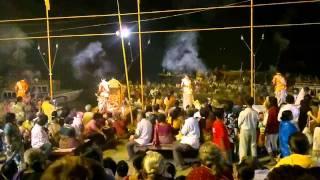 Whole Ganga Aarti at Dasaswamedh Ghats, Varanasi in HD