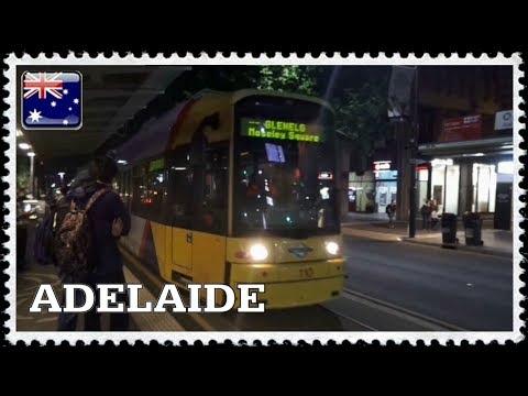 Il tram di Adelaide, in Australia, nel novembre 2017