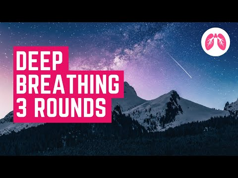 Wim Hof Guided Breathing - 100 breaths with music