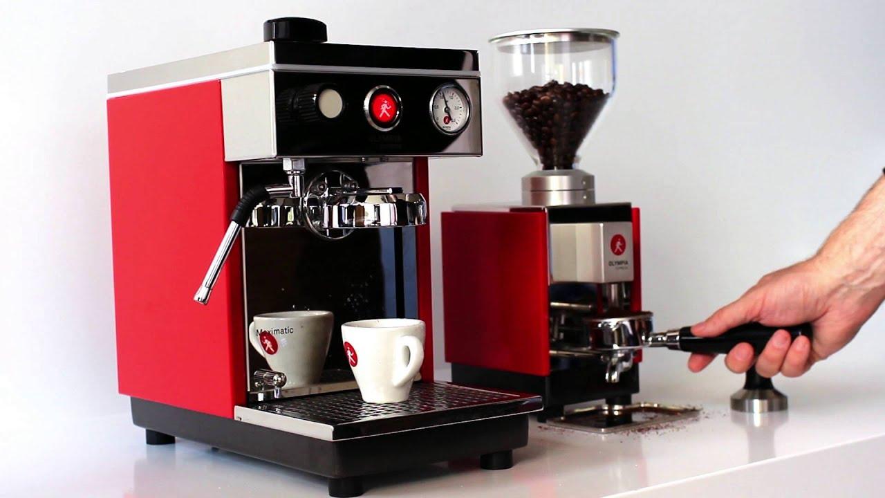 olympia express maximatic espresso machine and moca. Black Bedroom Furniture Sets. Home Design Ideas