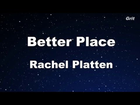 Better Place - Rachel Platten  Karaoke 【No Guide Melody】Instrumental
