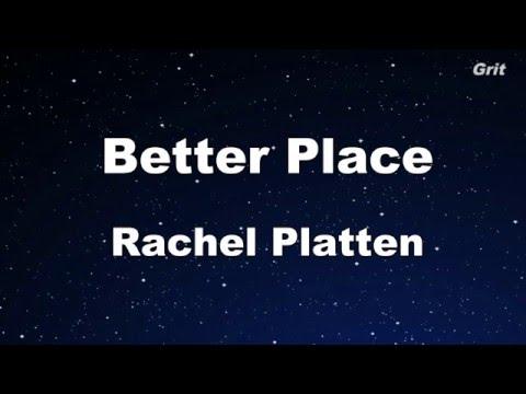 Better Place - Rachel Platten  Karaoke 【No Guide Melody】Instrumental