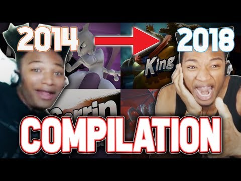"""ETIKA REACTS TO *EVERY* """"SUPER SMASH BROS."""" FIGHTER REVEAL ( COMPILATION 2014 - 2018 )"""
