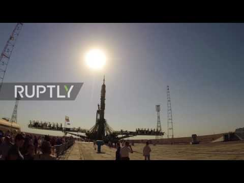Kazakhstan: WATCH expedition 53 spacecraft bound for ISS getting ready for launch