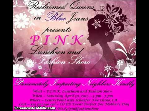 PINK Fashion Show Video Invitation