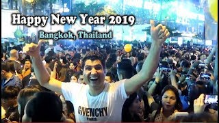 Bangkok Thailand Happy New Year 2019 Fireworks Count Down