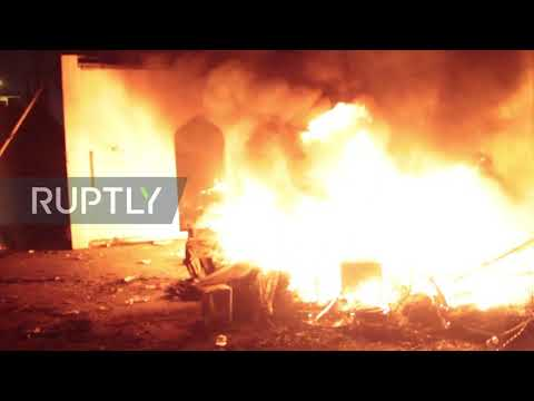 Iraq: Iranian consulate set ablaze by protesters in Najaf