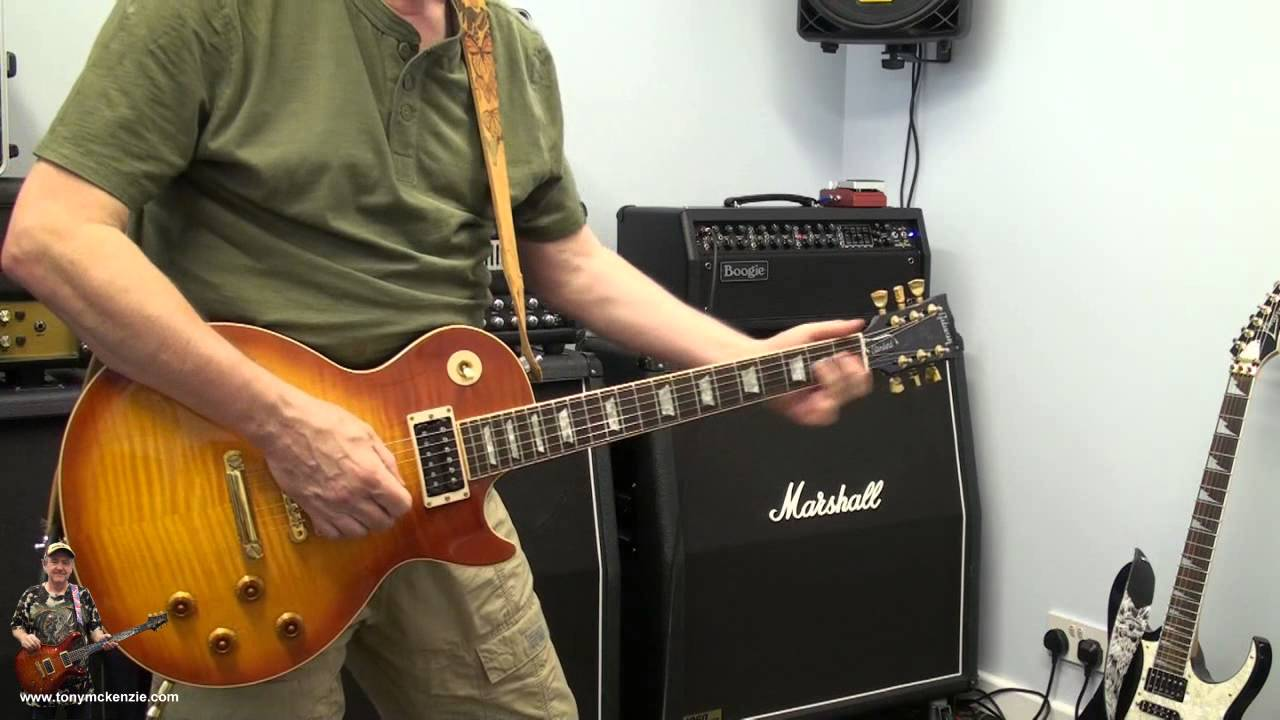 Gibson Jimmy Page Les Paul played through a Mesa Boogie