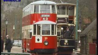 London Metropolitan Tram 331 at Crich Tramway Village