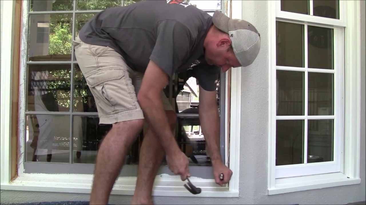 Diy bay window replacement pvc double pane low e youtube for Diy window replacement